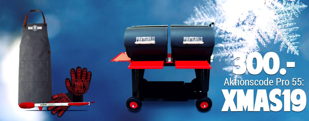 Pirategrills Weihnachtsaktion 2019 BBQ-Weihnachtsbundle Pelletgrill PG Pro 55